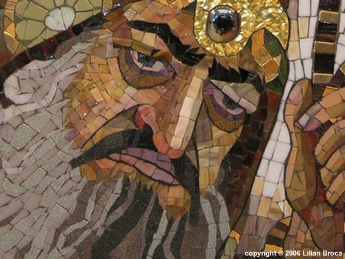 Hamen - mosaic portrait - Lilian Broca