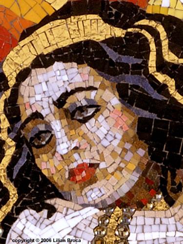 Queen Esther  - mosaic portrait - Lilian Broca