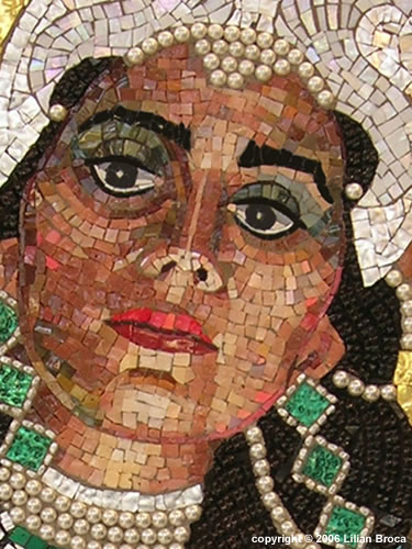 Queen Esther Revealing her True Identity - Mosaic Portrait - Lilian Broca