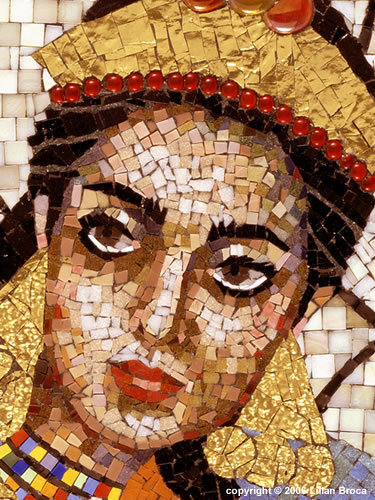 Queen esther s banquet mosaic portrait lilian broca for Mosaic painting meaning