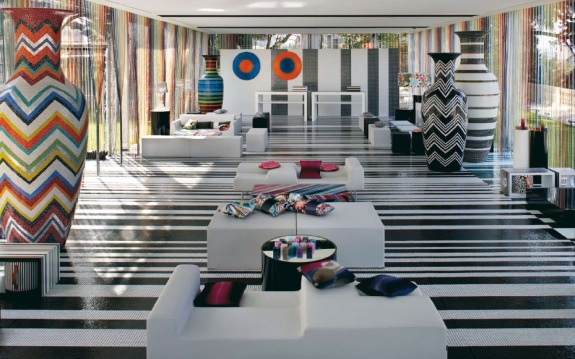 trend missoni interior design mosaic art